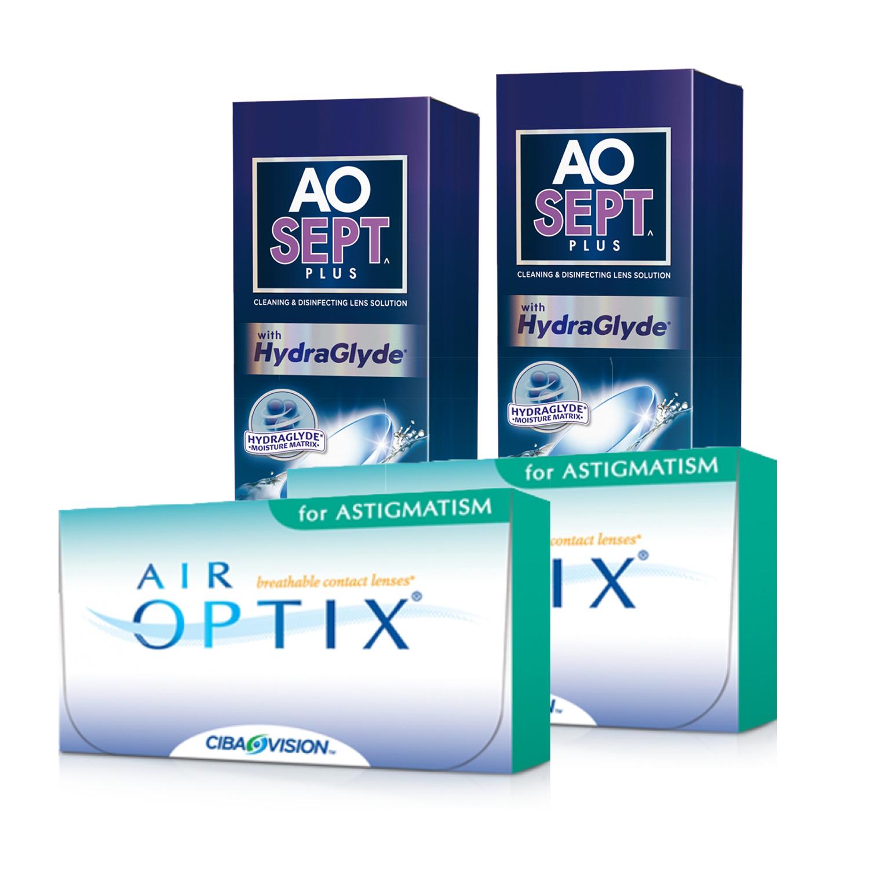 0b57fd80b Air Optix Astigmatism (Cx 6) x2 + Aosept Plus 360ml x2