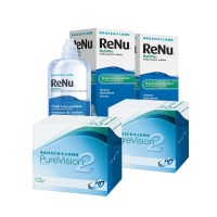 Purevision 2HD (Cx 6) x2 + Renu Multiplus 360ml x2