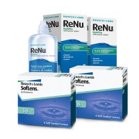 Soflens 38 (Cx 6) x2 + Renu Multiplus 360ml x2